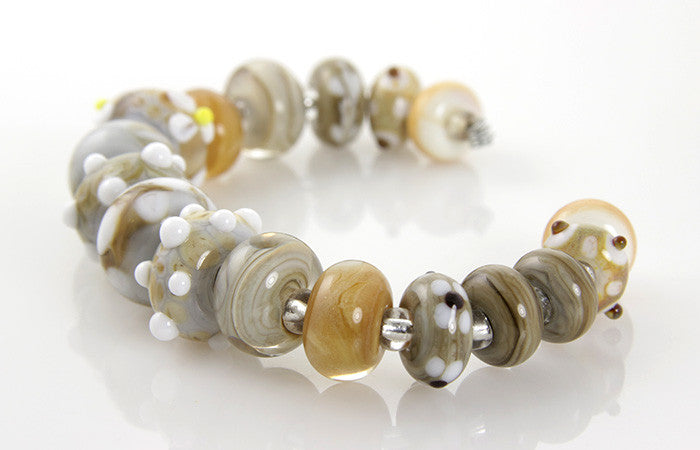 Tawny Brown Lampwork Bead Set - SWCreations  - 3