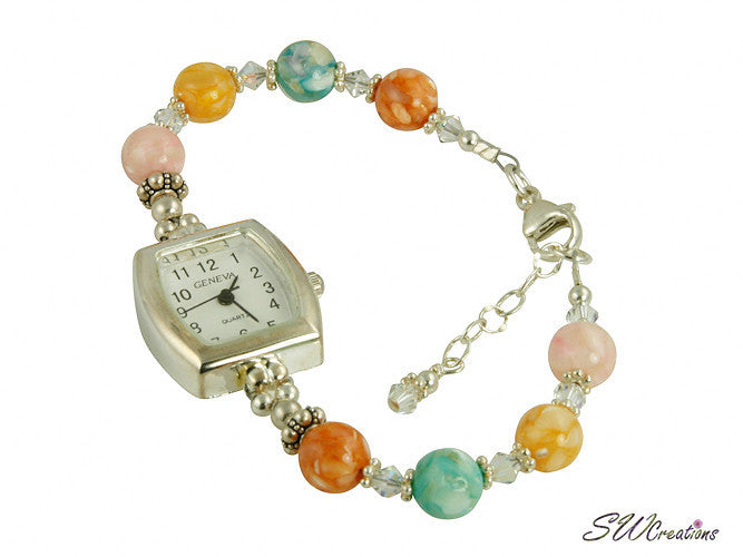 Divine Mother of Pearl Shell Beaded Watch - SWCreations  - 2