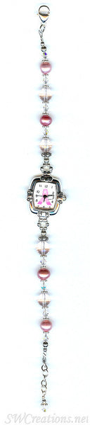 Pink Pearl Breast Cancer Awareness Watch - SWCreations