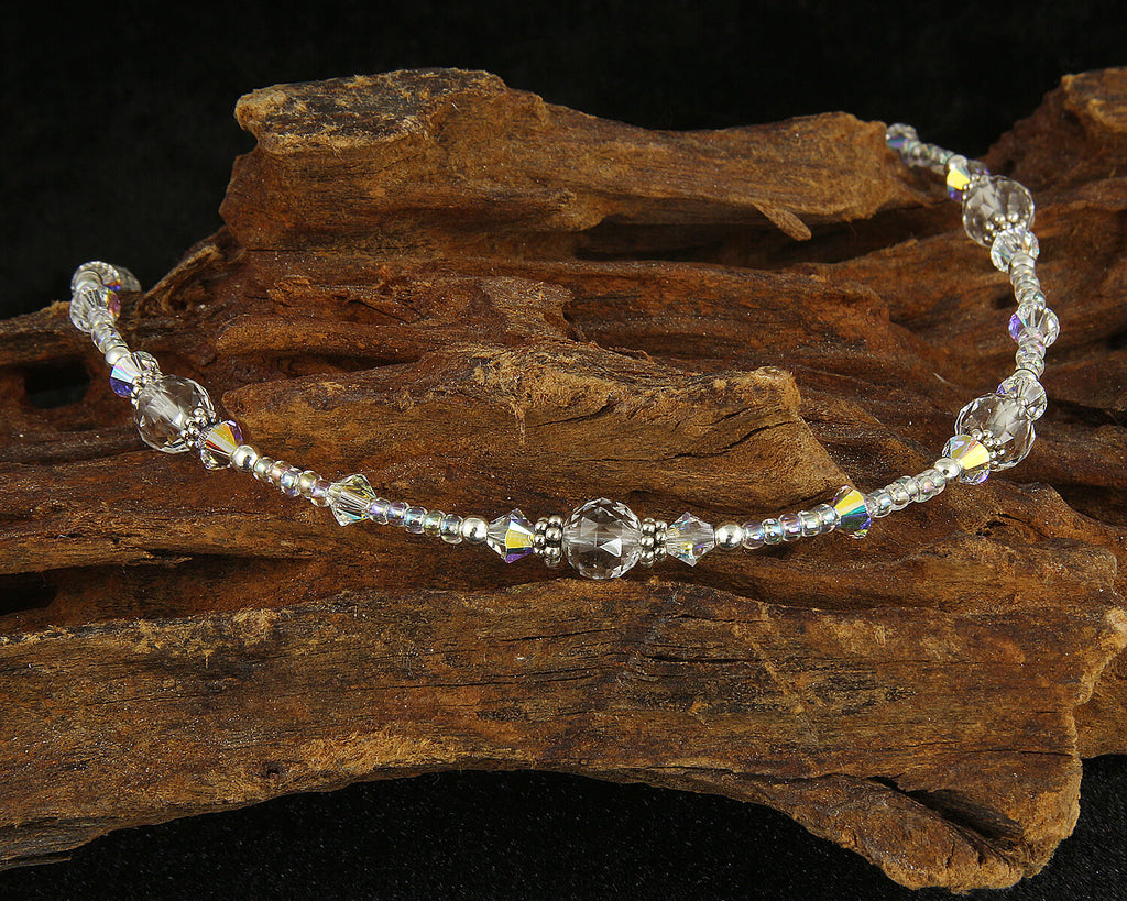 Quartz Crystal Gemstone Beaded Anklet
