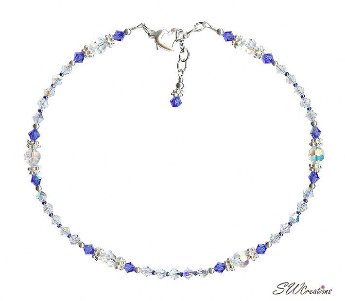 Shimmering - Something Blue Sapphire Wedding Anklet - SWCreations  - 3