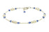 Classic - Something Blue Wedding Sapphire Heart Anklets