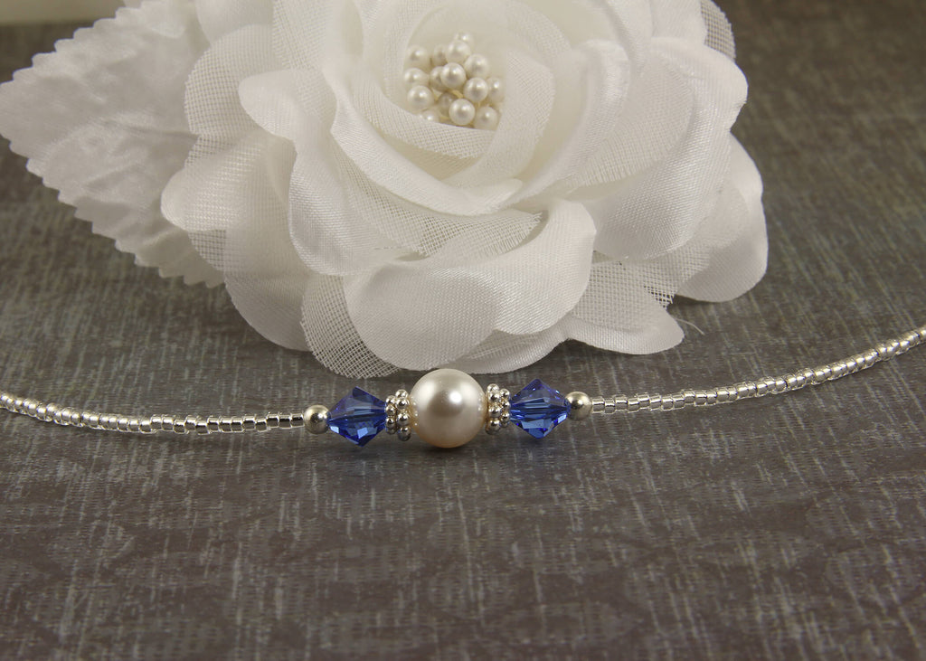 something blue wedding anklet