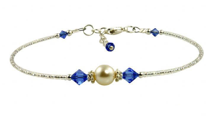 Aphrodite - Something Blue Wedding Sapphire Anklets