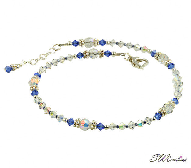 Kashmir - Something Blue Sapphire Wedding Anklet - SWCreations