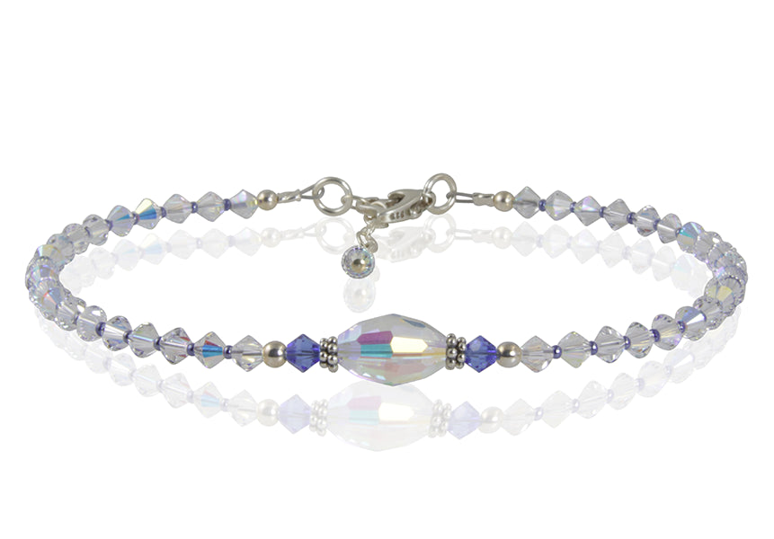 Calypso - Something Blue Crystal Wedding Anklet - SWCreations  - 1