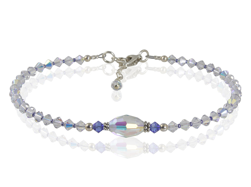 Calypso - Something Blue Crystal Wedding Anklet - SWCreations  - 2
