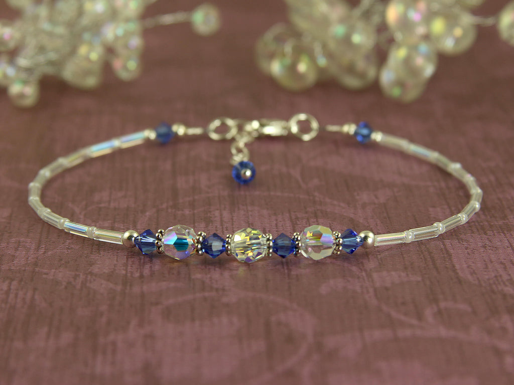 Serenity - Something Blue Wedding Sapphire Anklet