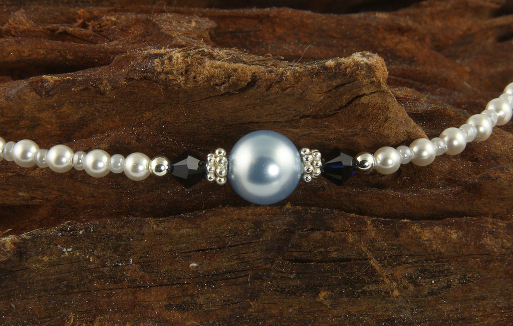 Cyanea - Something Blue Wedding Sapphire Anklets