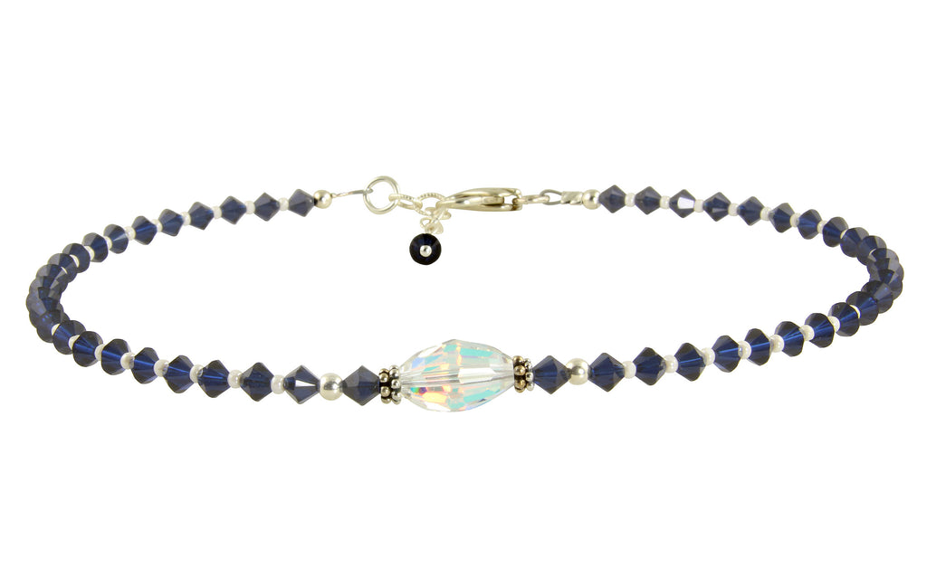 Kismet - Something Blue Crystal Wedding Anklet