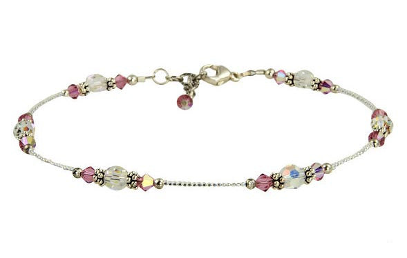 Bridal Sparkling Crystal Beaded Anklets - SWCreations