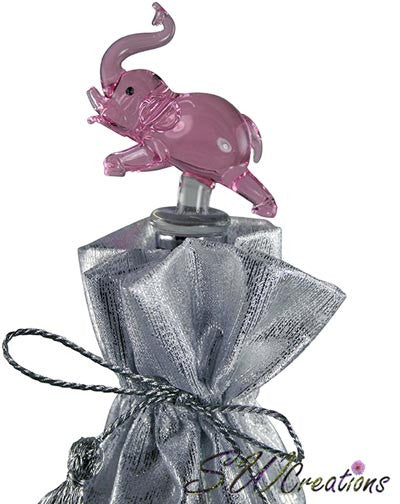 Pink Elephant Glass Wine Stopper - SWCreations  - 1