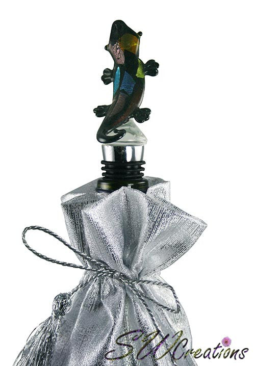 Colorful Gecko Glass Wine Stopper - SWCreations
