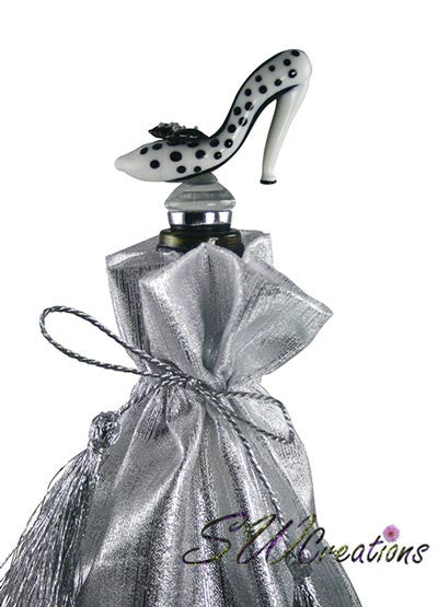 Polka Dot High Heel Wine Stopper - SWCreations  - 1