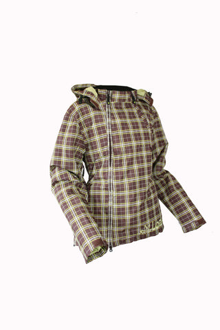 Loeka Waterproof Tech Jacket - Brown plaid