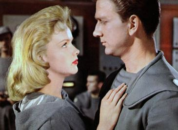 Anne Francis and Leslie Nielsen