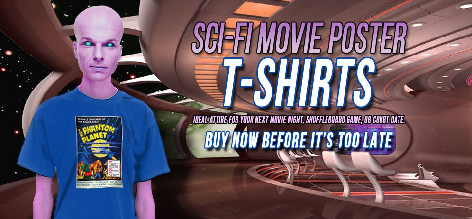 Science Fiction Movie Poster T-Shirts