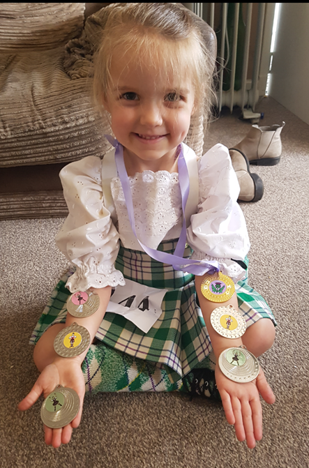 My first Blog from Lily Davies age 4 from Dunoon for The Highland Dancer