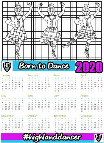 A4 2020 Colour In Calendar Girl - (FREE Digital Download)