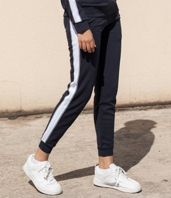 Tracksuit Pants with Contrast Panel down full leg - Adult