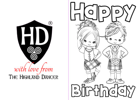 Colour IN Birthday Card (FREE Digital Down Load) #1a