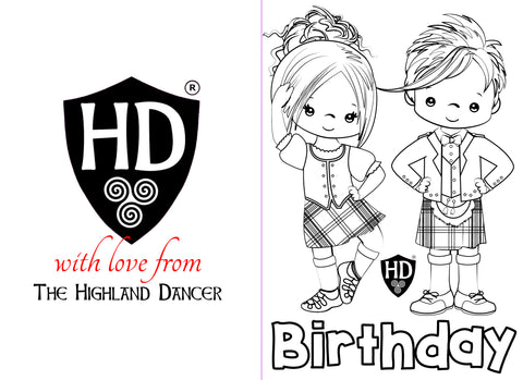 Colour IN Birthday Card (FREE Digital Down Load) #1b