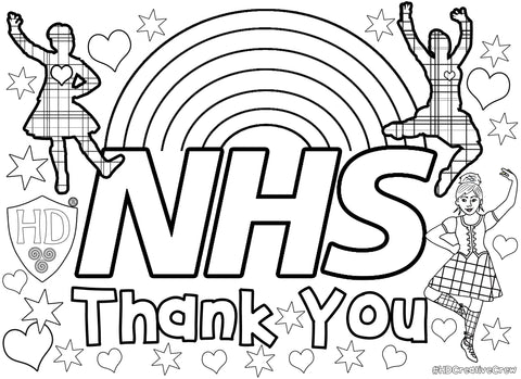 NHS Colour in Sheet (FREE Digital Down Load)