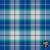 Royal Bonnie Blue Tartan Fleece Blanket - Various Designs