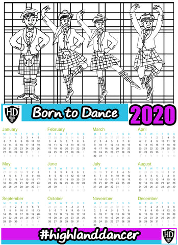 A4 2020 Colour In Calendar Boys - (FREE Digital Download)