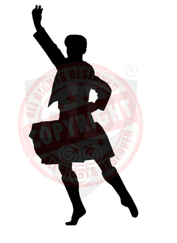 Male Dancer #1 Sticker/Decal - The Highland Dancer - 1