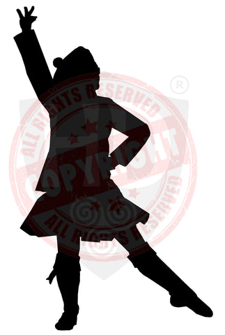 Male Highland Dancer Decal #15