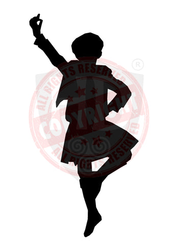 Male Highland Dancer Decal #18