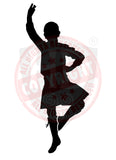 Male Highland Dancer Decal #19