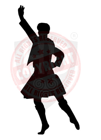 Male Dancer Decal #2