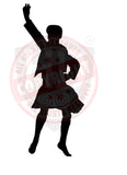 Male Dancer #4 Sticker/Decal - The Highland Dancer - 1