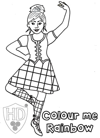 Rainbow Dancers Colour Sheet FREE Digital download!!! #3