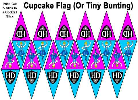 Cupcake Flags OR Mini Buntin (FREE Digital Download) #1