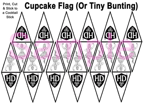 Cupcake Flags OR Mini Buntin COLOUR IN (FREE Digital Download) #2