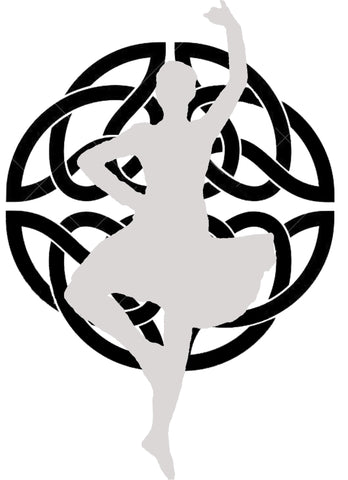 Knot & Girl Dancer Decal #A