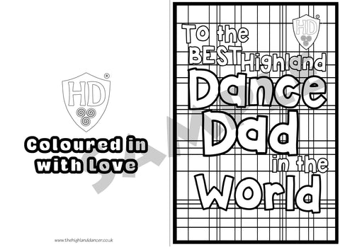 Dad's Colour in Birthday & Father's Day Card (FREE Digital Down Load) #1