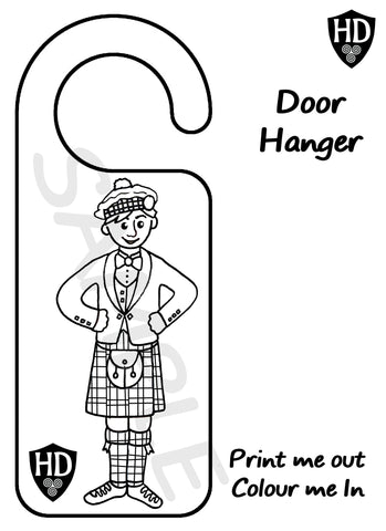 Colour In Door Sign (FREE Digital Down Load) #2