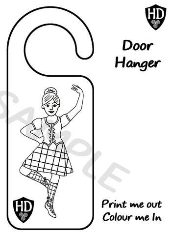 Colour In Door Sign (FREE Digital Down Load) #1
