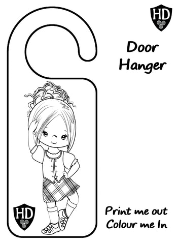 Colour In Door Sign (FREE Digital Down Load) #1b