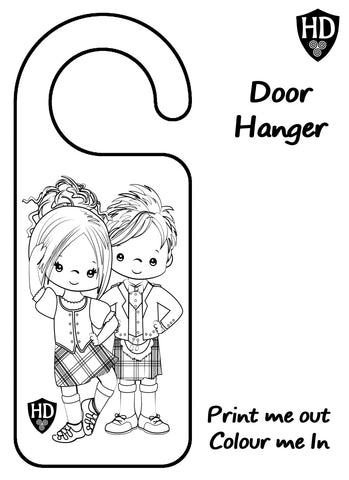 Colour In Door Sign (FREE Digital Down Load) #1c