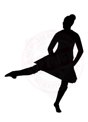 Girl Highland Dancer Decal #24