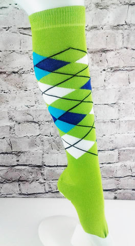 Green HD Tartan Practice Sock