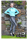 High Waistband Panel Leggings - Ladies