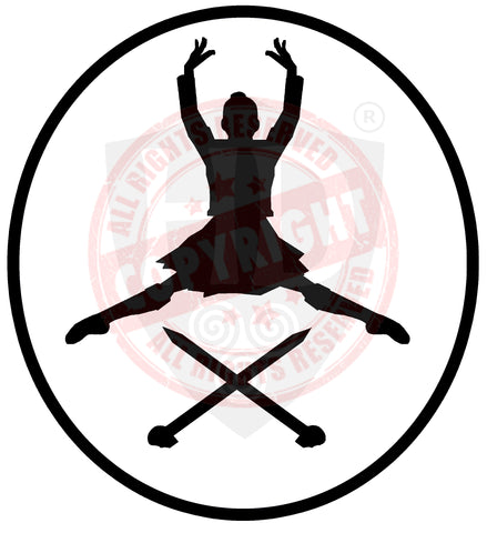 Girl Highland Dancer Decal #11
