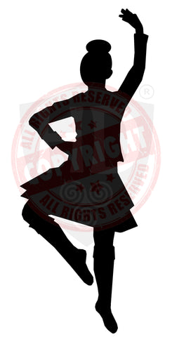 Girl Highland Dancer Decal #19
