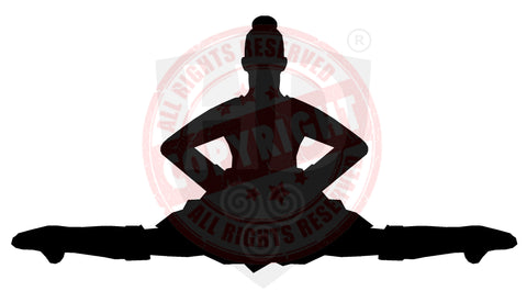 Girl Highland Dancer Decal #1